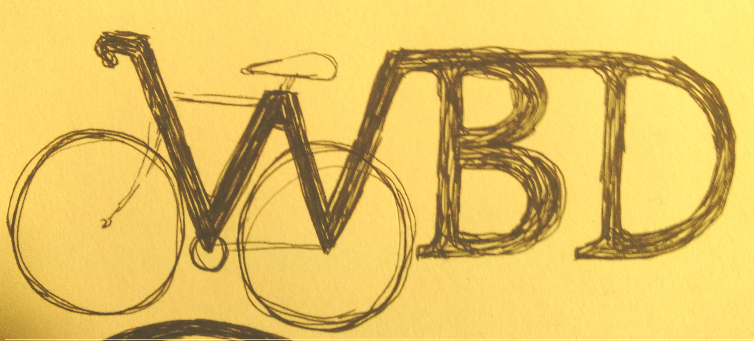 Within Biking Distance possible logo - road bike drawing